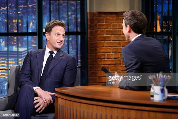 Actor Josh Charles during an interview with host Seth Meyers on September 11 2014
