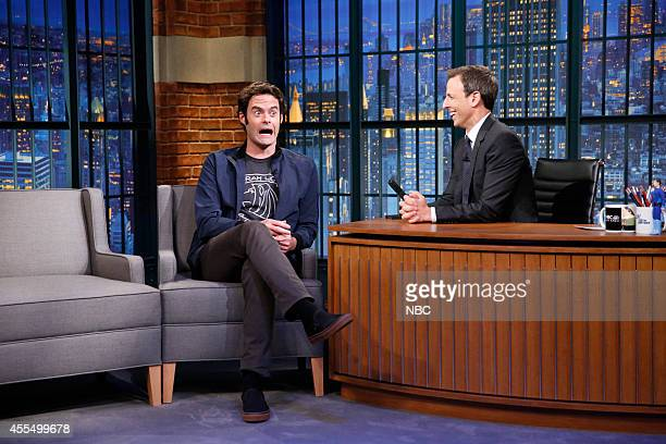 Actor Bill Hader during an interview with host Seth Meyers on September 15 2014