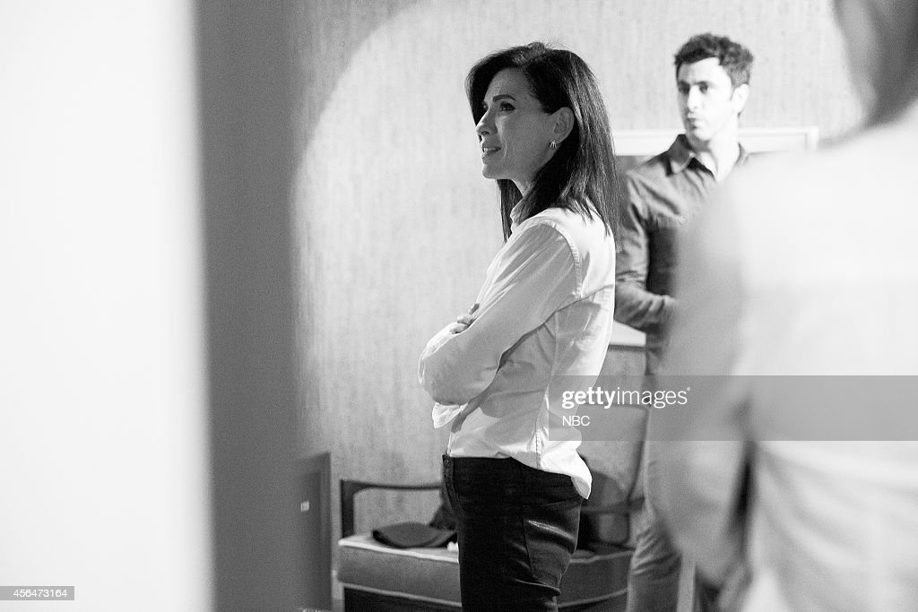 Actress Julianna Margulies backstage on September 18, 2014 --