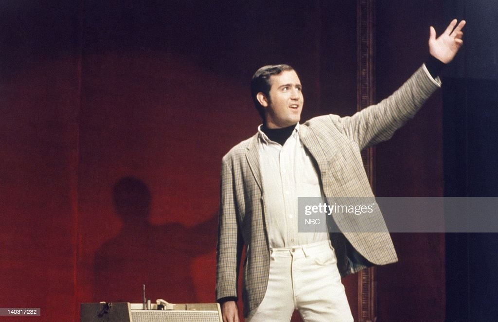 LIVE -- Episode 1 -- Air Date -- Pictured: Guest performance by <a gi-track='captionPersonalityLinkClicked' href=/galleries/search?phrase=Andy+Kaufman&family=editorial&specificpeople=587929 ng-click='$event.stopPropagation()'>Andy Kaufman</a> on October 11, 1975 -- Photo by: Herb Ball/NBCU Photo Bank