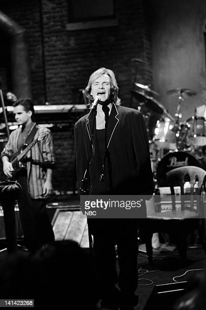 LIVE Episode 1 Air Date Pictured Musical guest Sting performs on October 17 1987 Photo by Al Levine/NBCU Photo Bank