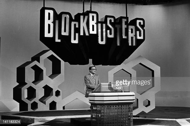 BLOCKBUSTERS Episode 1 Air Date Pictured Host Bill Cullen Photo by Frank Carroll/NBCU Photo Bank