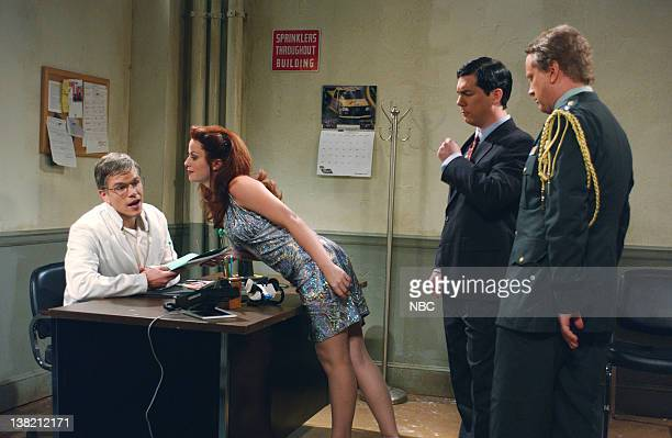 LIVE Episode 1 Aired Pictured Matt Damon as Dr Flemming Amy Poehler as Bambi Chris parnell as Congressman Applegate Darrell Hammond as General Mills...