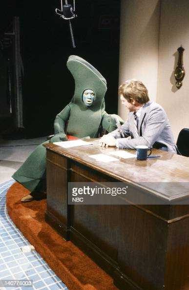 Eddie Murphy as Gumby Joe Piscopo as David Letterman during the 'Late Night With David Letterman' skit on September 25 1982 Photo by Al...