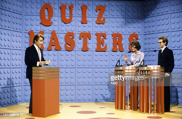 Phil Hartman as Bill Franklin Jan Hooks as Marge Deister Dana Carvey as Lane Maxwell during the '' skit on October 11 1986 Photo by Reggie...