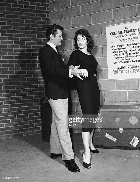HOUR Episode 10 Aired Pictured Tony Curtis and Mara Corday Photo by Herb Ball/NBCU Photo Bank