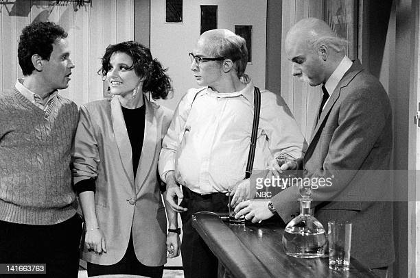 Billy Crystal as Larry Pacon Julia LouisDreyfus as Sharon Martin Short as Brad Christopher Guest as Sam Pacon during the 'Hypnotism by Fire' skit on...