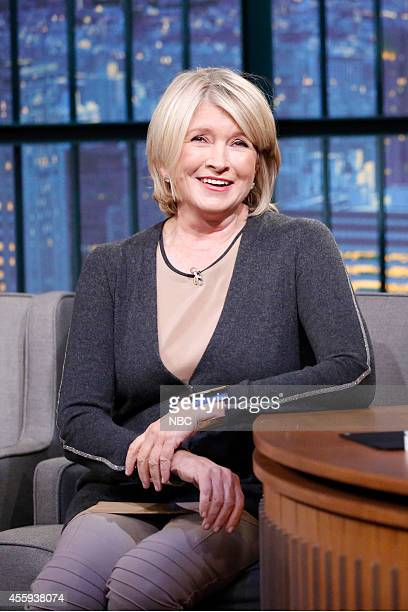 Martha Stewart during an interview with host Seth Meyers on September 22 2014