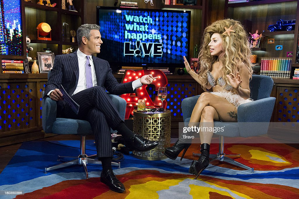 Andy Cohen, <a gi-track='captionPersonalityLinkClicked' href=/galleries/search?phrase=Lady+Gaga&family=editorial&specificpeople=4456754 ng-click='$event.stopPropagation()'>Lady Gaga</a> --