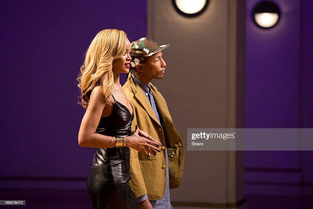 Host Robyn Rihanna Fenty mentor Pharrell Williams