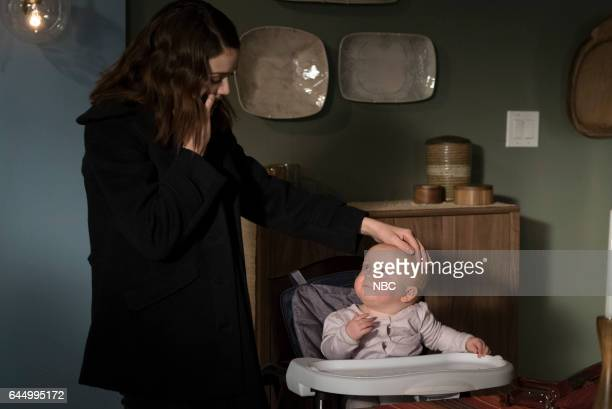 REDEMPTION Episode 101 Pictured Megan Boone as Elizabeth Keen Baby Agnes