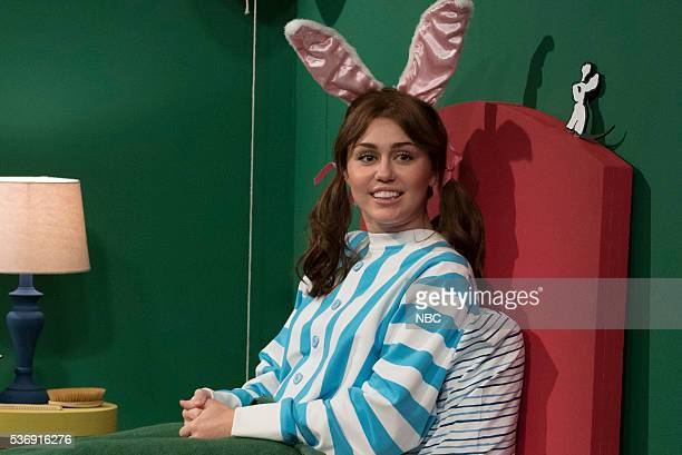 Miley Cyrus during the 'Goodnight Moon' sketch on May 31 2016