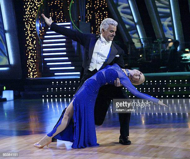 STARS 'Episode 102' Joey McIntyre John O'Hurley Evander Holyfield and their partners each danced a quickstep routine while Rachel Hunter Trista...