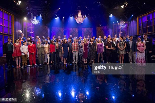 'Broadway for Orlando' performs 'What the World Needs Now Is Love' with Martin Short Maya Rudolph and Kenan Thompson on June 21 2016 'Broadway for...