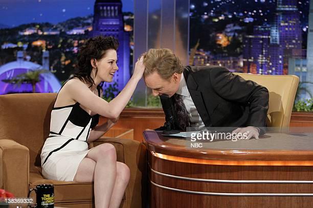 BRIEN Episode 105 Pictured Kristen Stewart during an interview with host Conan O'Brien on November 16 2009