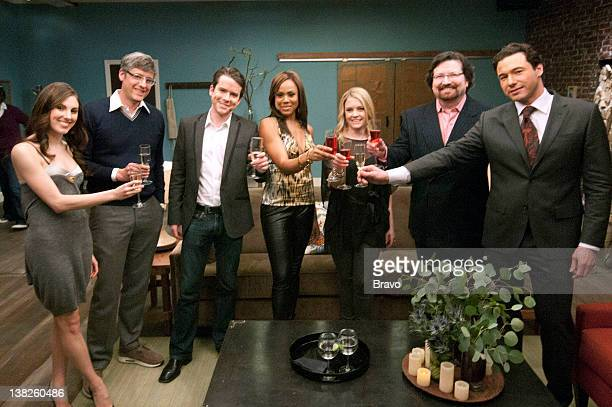 S DINNER PARTY Episode 105 'Town And Country' Pictured Tiler Peck Mo Rocca Christian Campbell Deborah Cox Melissa Joan Hart Terrance Brennan host...