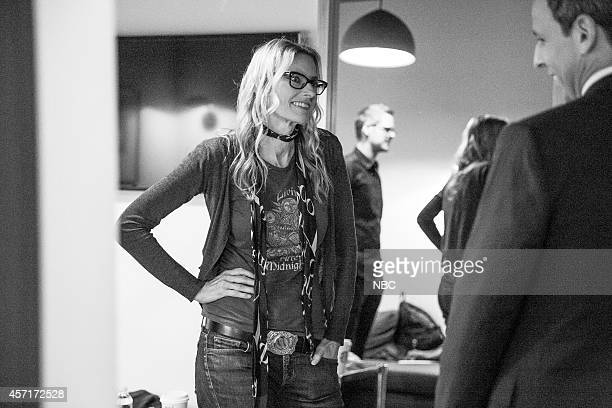 Aimee Mann of musical guest The Both backstage on October 1 2014