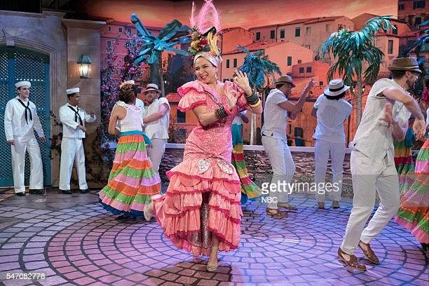 Maya Rudolph as Carmen Miranda during the 'Carmen Miranda' sketch on July 12 2016