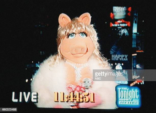 Miss Piggy reporting from Times Square on December 31 1996 Photo by Margaret Norton/NBC/NBCU Photo Bank via Getty Images