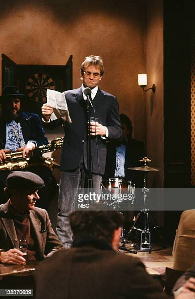 Sting as Tommy Hughes during the 'Depressing Poetry' skit on January 19 1991