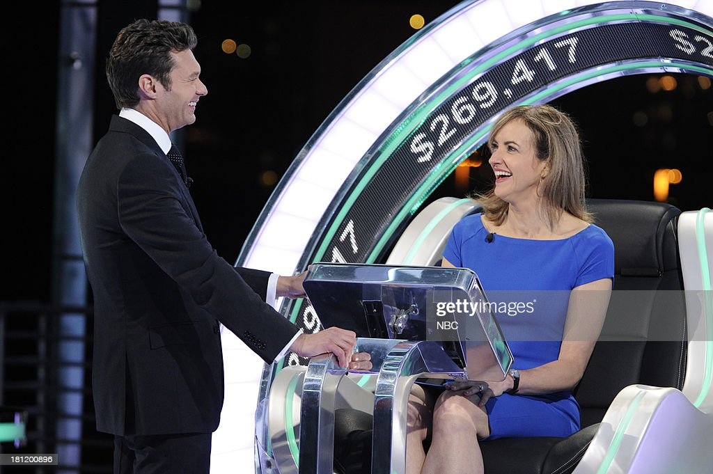 Host <a gi-track='captionPersonalityLinkClicked' href=/galleries/search?phrase=Ryan+Seacrest&family=editorial&specificpeople=201694 ng-click='$event.stopPropagation()'>Ryan Seacrest</a>, contestant Kathy Frazer --