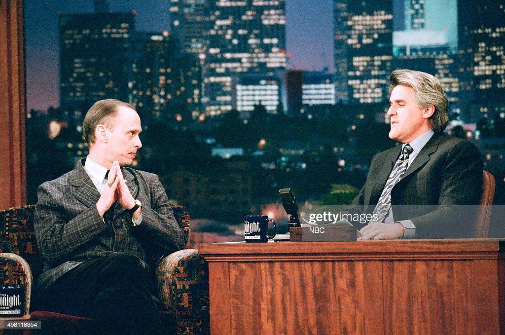 Director <a gi-track='captionPersonalityLinkClicked' href=/galleries/search?phrase=John+Waters+-+Director&family=editorial&specificpeople=209202 ng-click='$event.stopPropagation()'>John Waters</a> during an interview with host Jay Leno on April 2, 1997 --