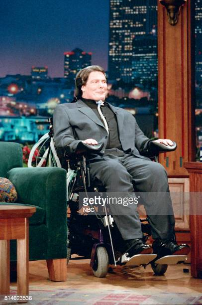 Actor Christopher Reeve during an interview on April 16 1997