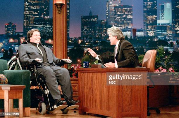Actor Christopher Reeve during an interview with host Jay Leno on April 16 1997