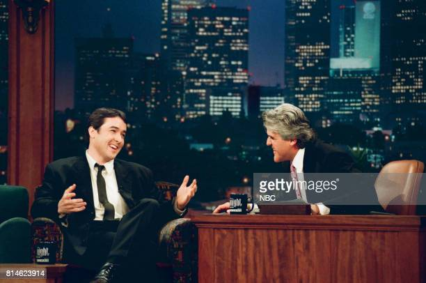 Actor John Cusack during an interview with Host Jay Leno on April 16 1997