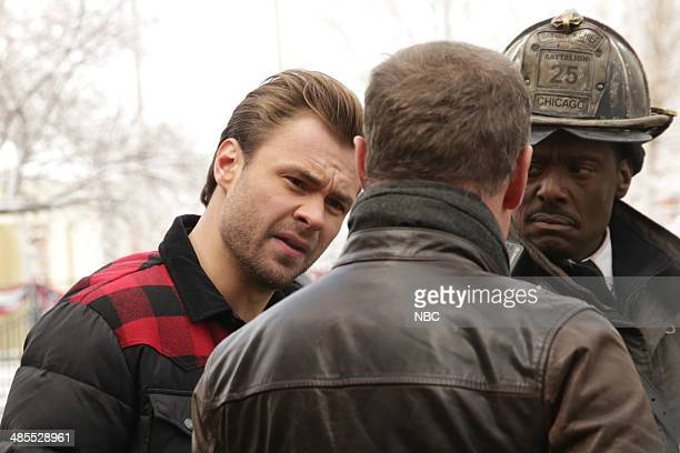 D '830 PM' Episode 113 Pictured Patrick Flueger as Adam Ruzek Jason Beghe as Hank Voight Eamonn Walker as Chief Wallace Boden