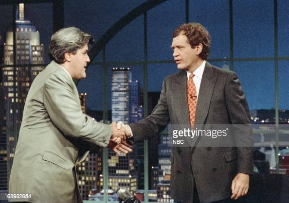 The new host of 'The Tonight Show' Jay Leno host David Letterman on May 7 1992