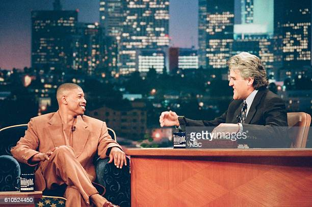 NBA athlete Muggsy Bogues during an interview with host Jay Leno on May 27 1997