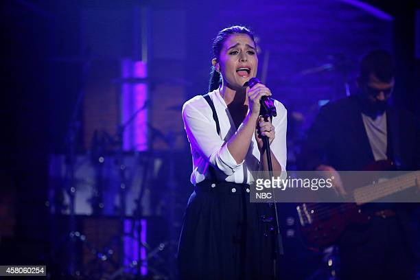 Musical guest Jessie Ware performs on October 29 2014