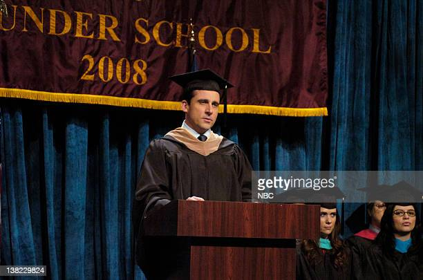 Steve Carell as professor during the 'Pounder School Commencement' skit on May 17 2008