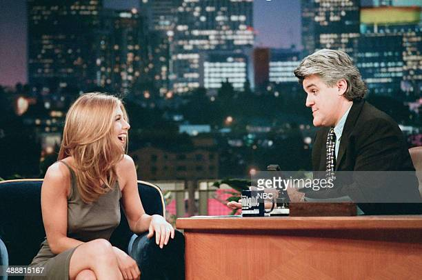 Actress Jennifer Aniston during an interview with host Jay Leno on August 8 1997