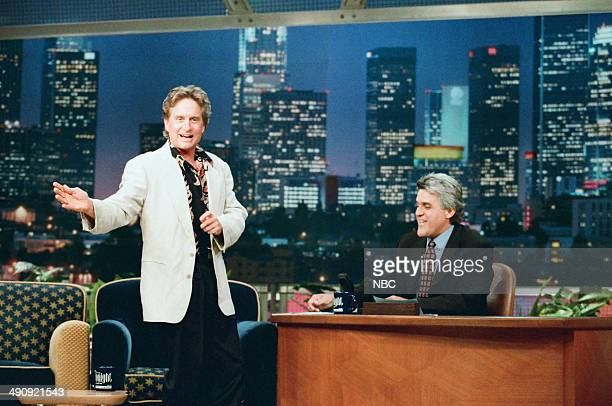Actor Michael Douglas during an interview with host Jay Leno on September 10 1997