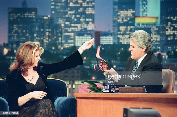 Actress Kirstie Alley during an interview with host Jay Leno on September 24 1997