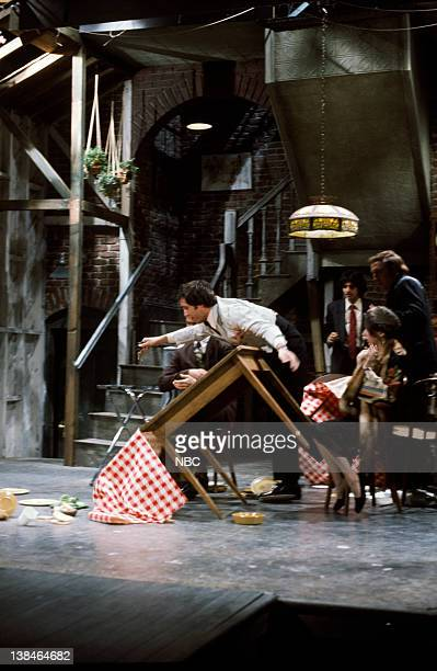 LIVE Episode 13 Air Date Pictured Chevy Chase as Jimmy the Waiter during the 'St Valentine's Day' skit on February 14 1976