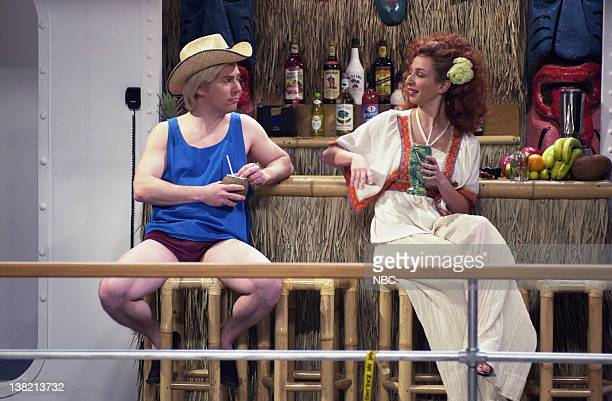 LIVE Episode 13 Aired Pictured Chris Parnell as Connor Maya Rudolph as leilani Burke during 'Singles Cruise' skit