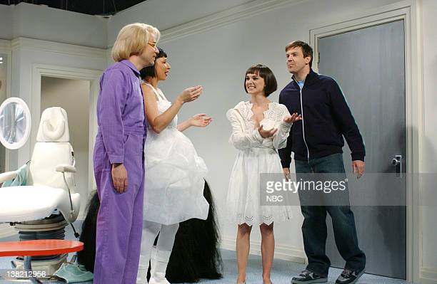 LIVE Episode 13 Aired Pictured Fred Armisen as Nuni Schoener Maya Rudolph as nuni Schoener Natalie Portman as Nunni Jason Sideikis as Jeff during...