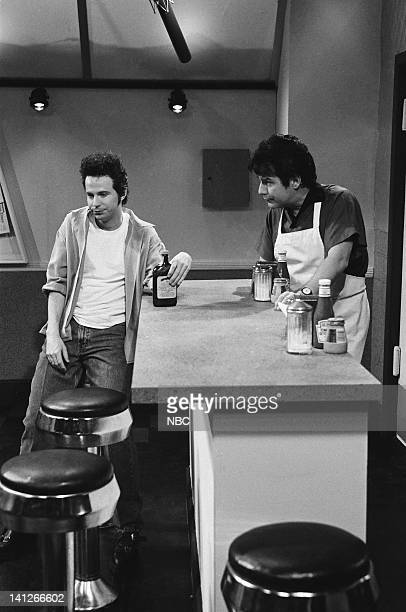 Dana Carvey as Dylan Phil Hartman as Nat during 'Beverly Hills 90210' skit on February 15 1992 Photo by Al Levine/NBCU Photo Bank
