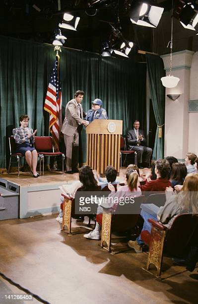 Kevin Nealon as Superintendent Collier Chris Farley as Hal McPherson during 'Beverly Hills 90210' skit on February 15 1992 Photo by Al Levine/NBCU...