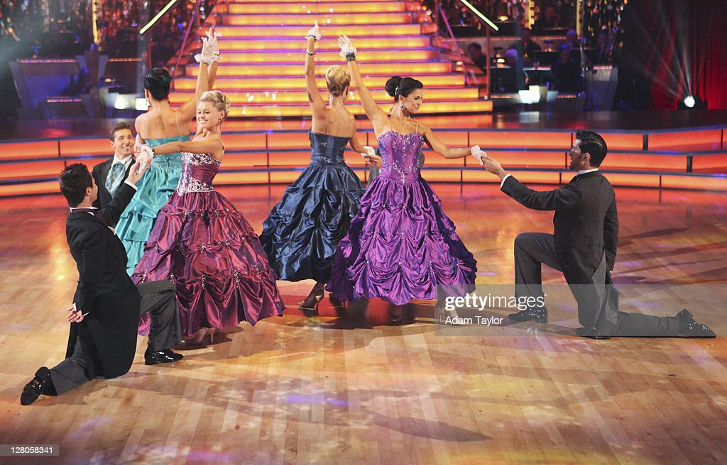 SHOW - 'Episode 1303A' - Professional dancers Val Chmerkovskiy and Peta Murgatroyd reunite with the Troupe for a special performance themed to 'Gone with the Wind,' as a preview to next week's Movie Scores theme, on 'Dancing with the Stars the Results Show,' TUESDAY, OCTOBER 4 (9:00-10:01 p.m., ET), on the ABC Television Network. TROUPE