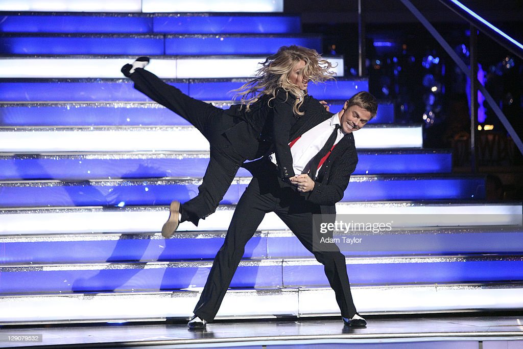 SHOW - 'Episode 1304A' - Julianne Hough hit the dance floor with her brother and 'Dancing with the Stars' three-time champion Derek Hough, performing a Jive choreographed by them to 'Shake Your Tail Feather,' on 'Dancing with the Stars the Results Show,' TUESDAY, OCTOBER 11 (9:00-10:01 p.m., ET), on the ABC Television Network.