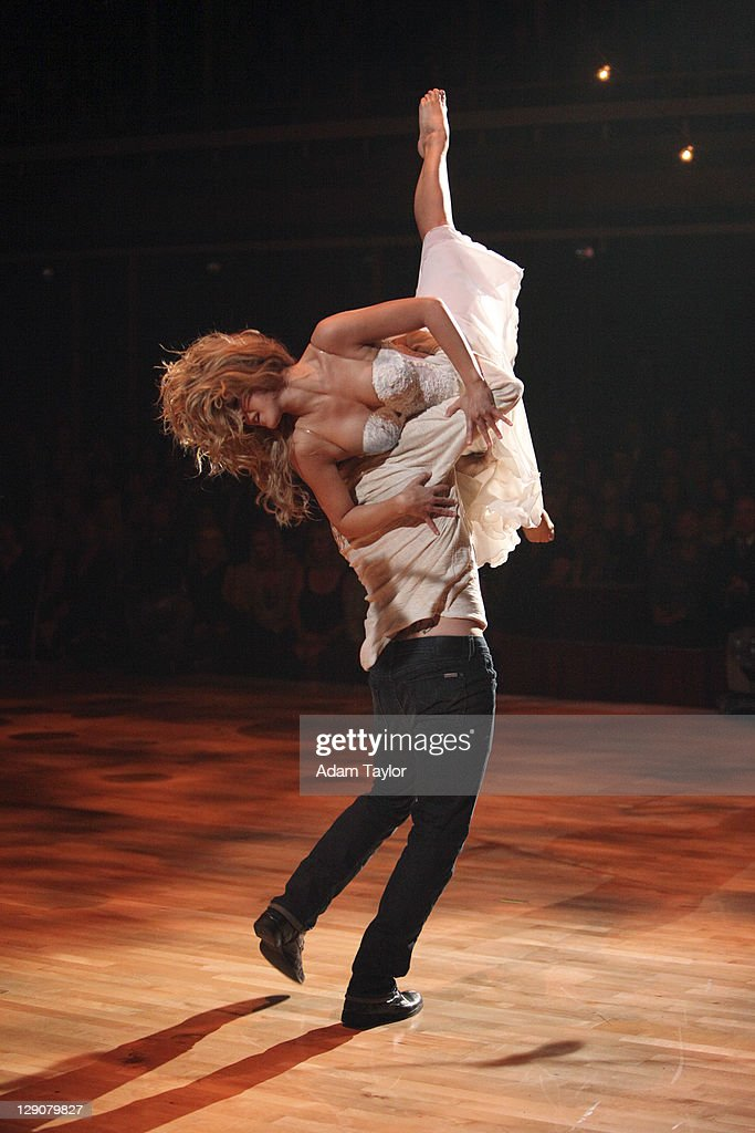 SHOW - 'Episode 1304A' - Two-time former 'Dancing with the Stars' champion <a gi-track='captionPersonalityLinkClicked' href=/galleries/search?phrase=Julianne+Hough&family=editorial&specificpeople=4237560 ng-click='$event.stopPropagation()'>Julianne Hough</a> performed a duet with her 'Footloose 'co-star Kenny Wormald to their remake of 'Holding Out For A Hero,' on 'Dancing with the Stars the Results Show,' TUESDAY, OCTOBER 11 (9:00-10:01 p.m., ET), on the ABC Television Network.