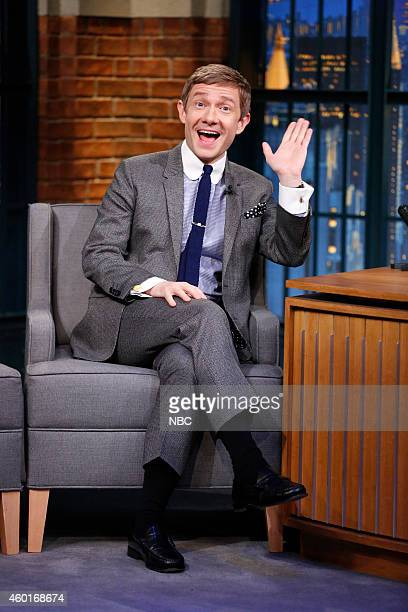Actor Martin Freeman during an interview on December 8 2014
