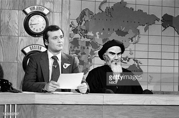 Bill Murray during the 'Weekend Update' sketch on March 15 1980