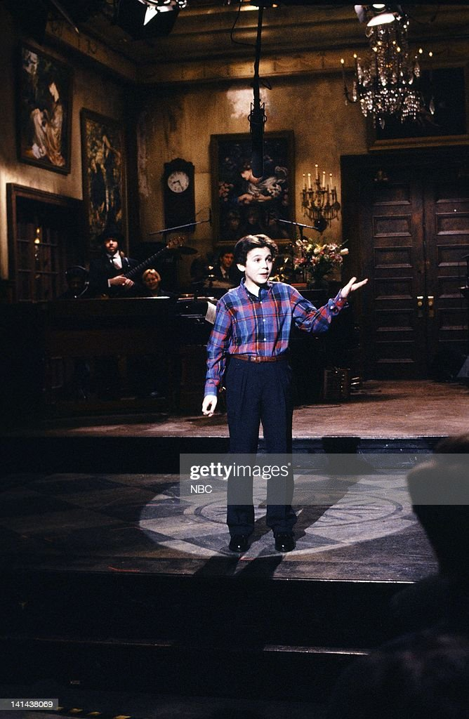 Fred Savage during the monologue on February 24 1990 Photo by Raymond Bonar/NBC/NBCU Photo Bank