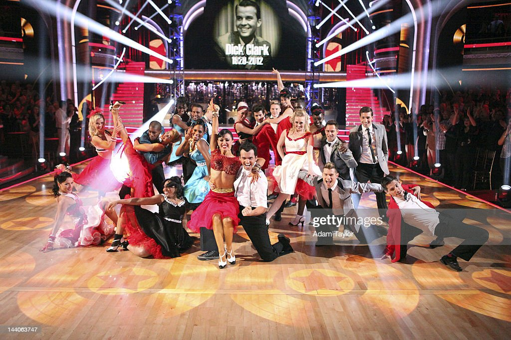 SHOW 'Episode 1408A' 'Macy's Stars of Dance' was an 'American Bandstand' tribute to the legendary Dick Clark The performance was a huge dance number...