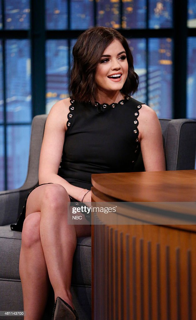 Actress <a gi-track='captionPersonalityLinkClicked' href=/galleries/search?phrase=Lucy+Hale&family=editorial&specificpeople=4430849 ng-click='$event.stopPropagation()'>Lucy Hale</a> during an interview on January 7, 2015 --